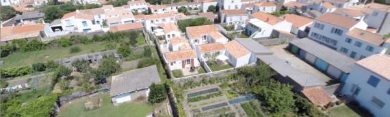 Les Villas du Port en drone – île d'Yeu
